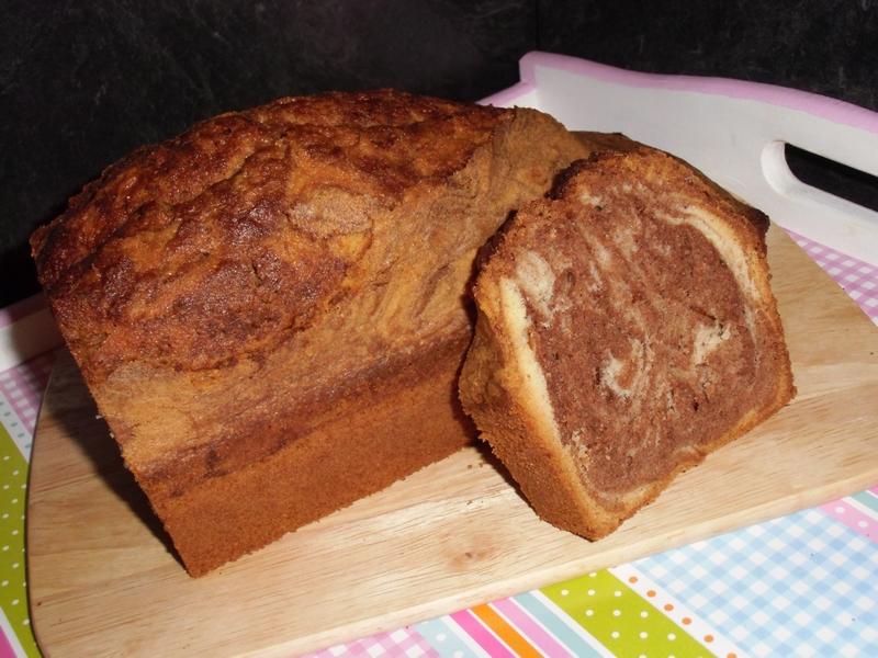 Marmorkuchen - mit Nuss-Nougatcreme
