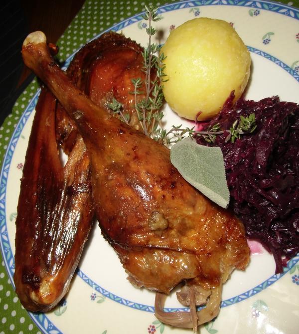 Bio Gänsebraten mit Rotkohl mit demeter Weihnachtsgans biologisch-lecker Blog