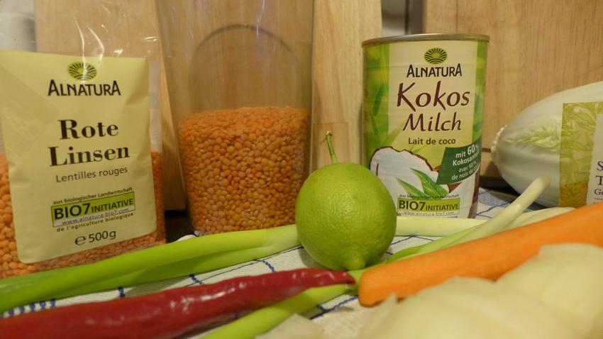 Rote Linsen Suppe mit Kokosmilch biologisch-lecker Bio Blog 08
