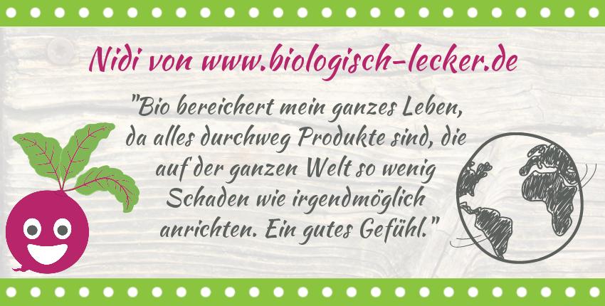 """Bio gut für die Welt, About """"biologisch-lecker"""""""